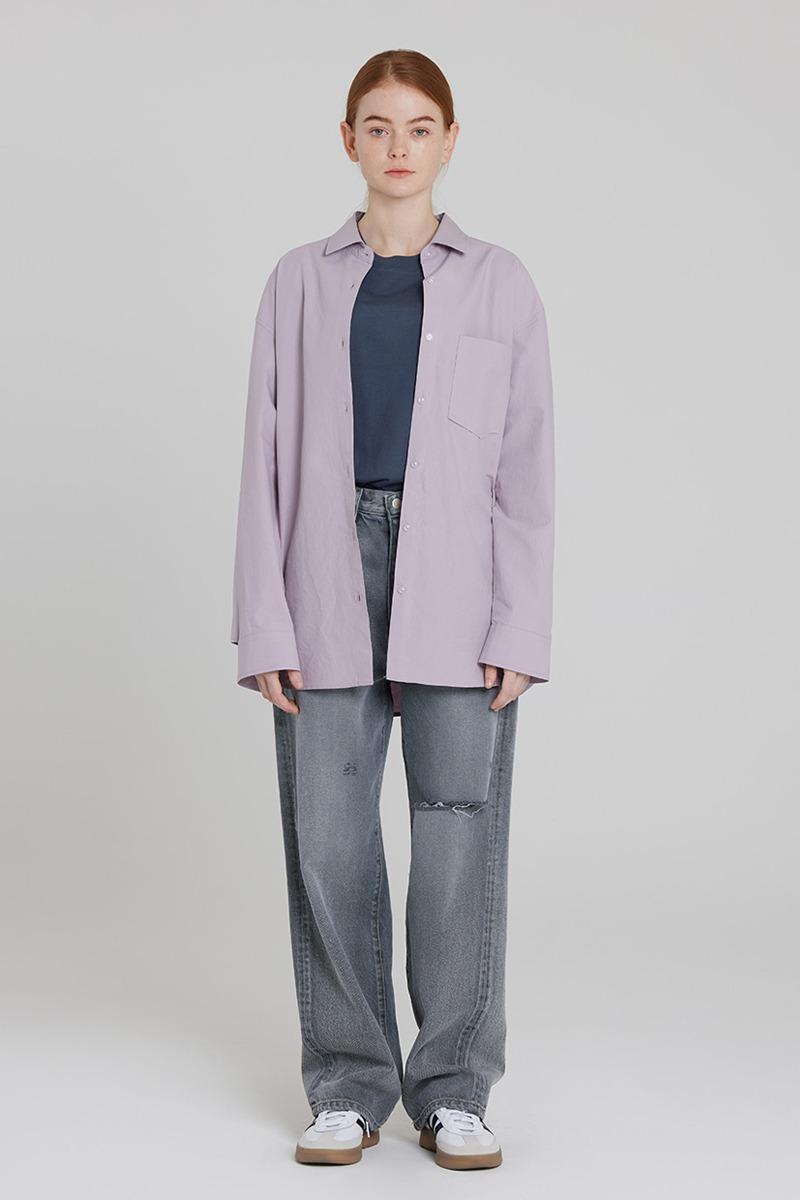 [LZSD]Overfit Twill shirt (light violet)