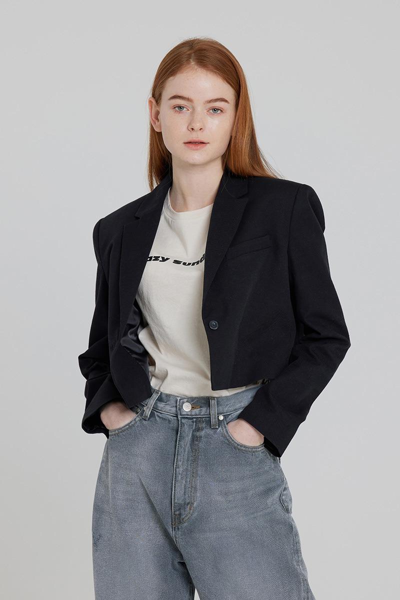 [LZSD]Classic Crop jacket (black)