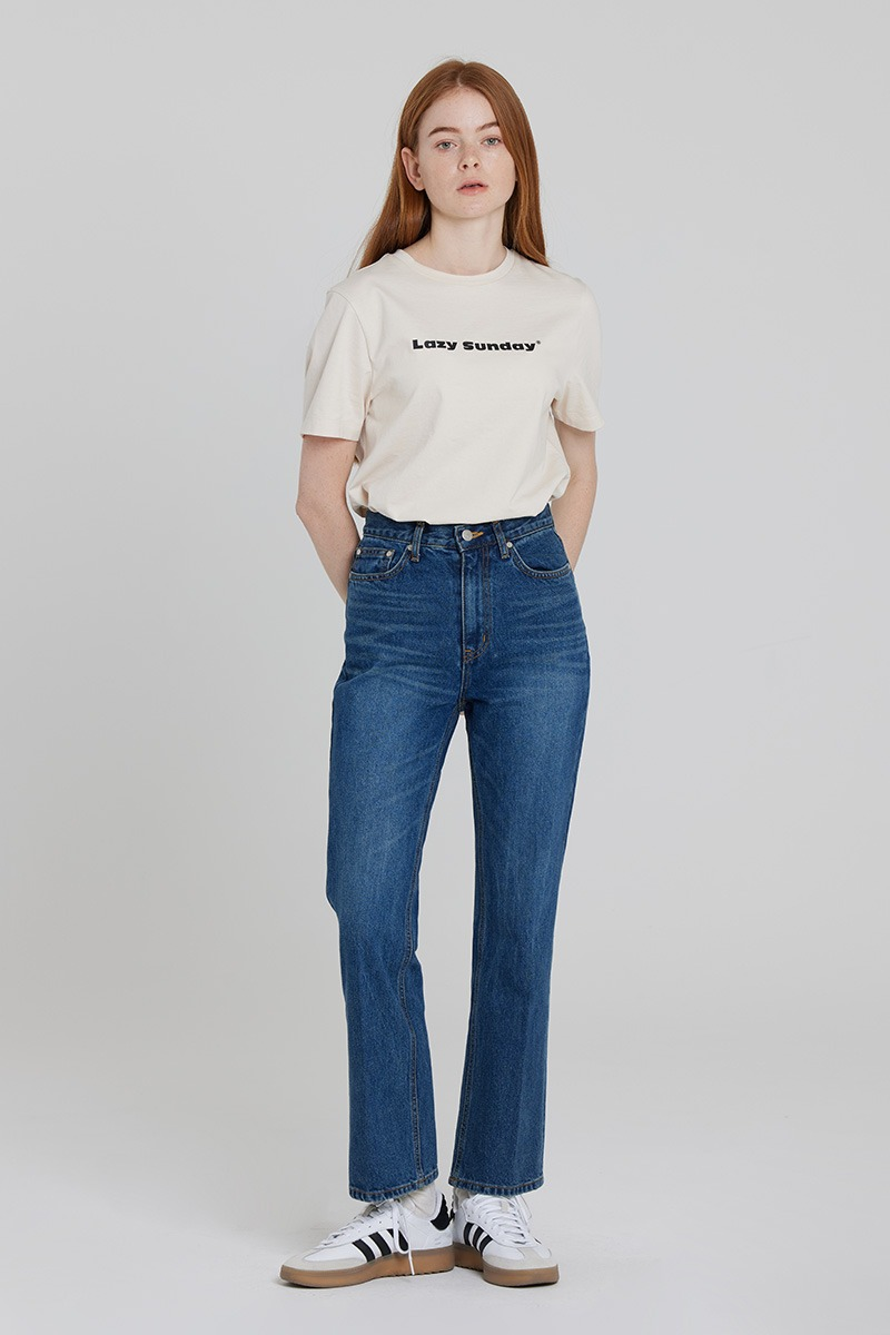 [LZSD]Bootcut denim trousers (dark blue)
