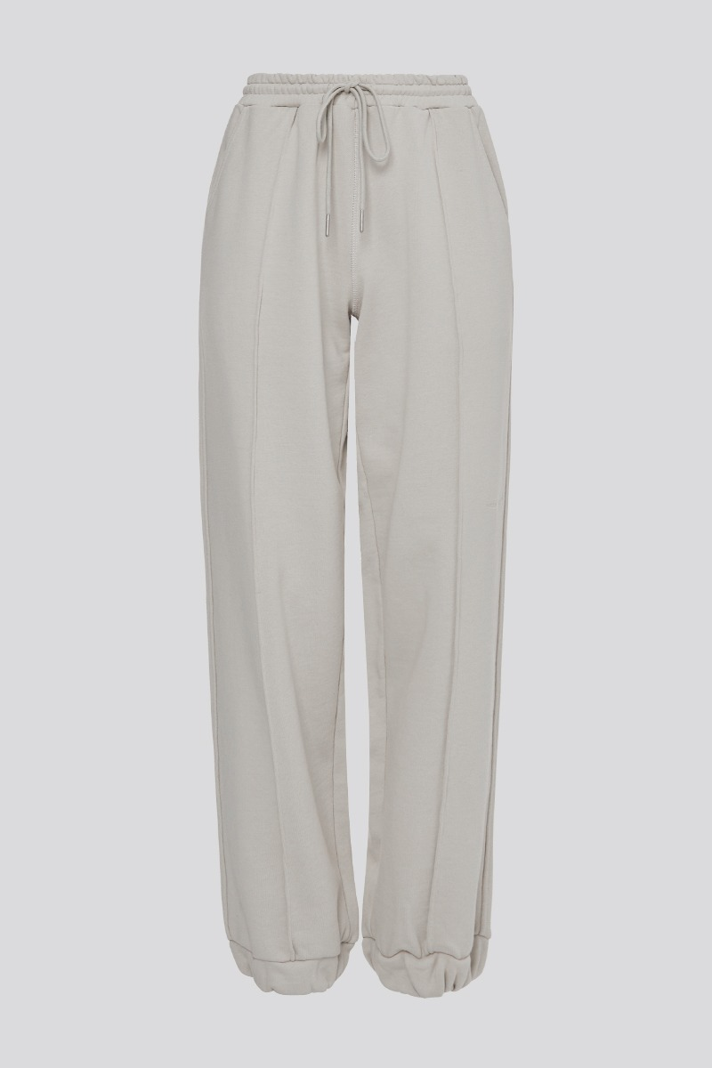 [LZSD]Pintuck set-up pants (light grey)