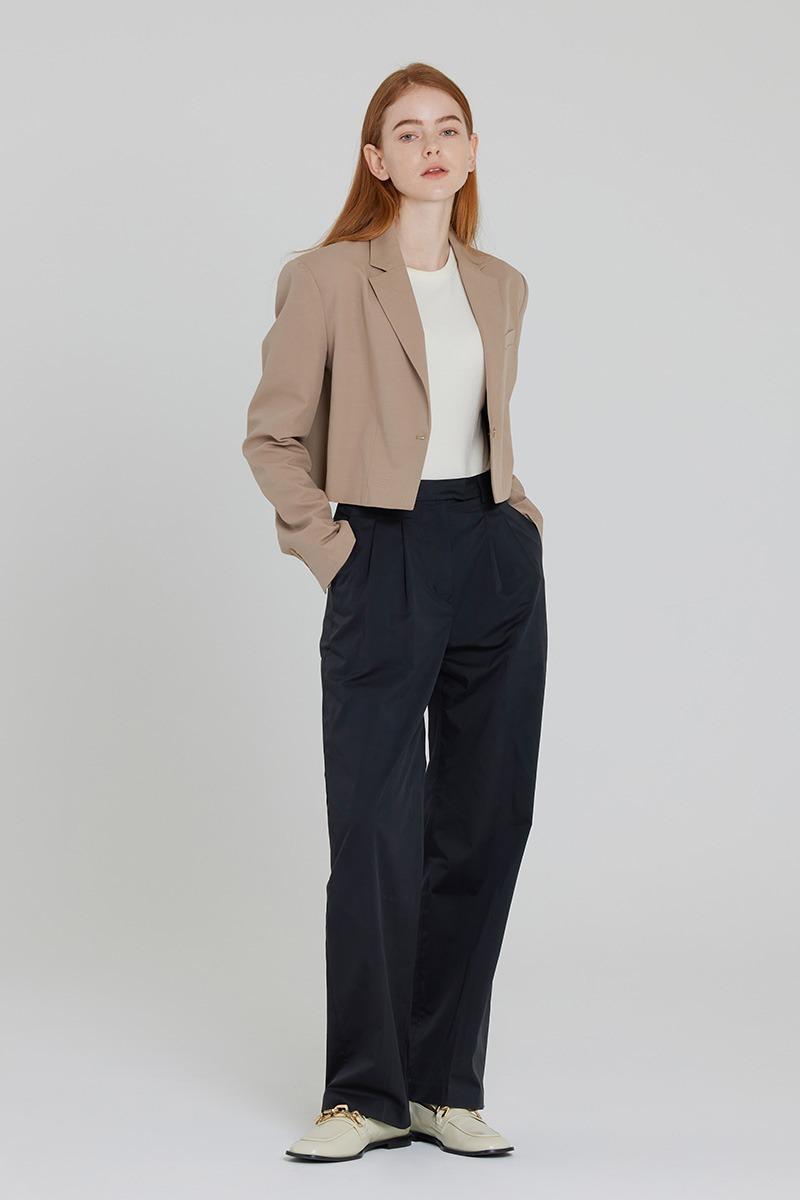 [LZSD]Classic Crop jacket (beige)
