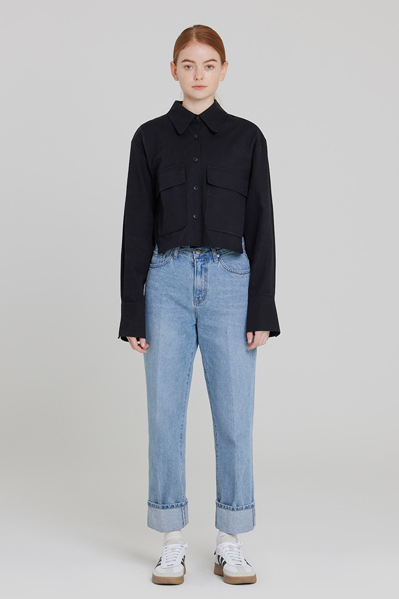 [LZSD]Trucker jacket (black)