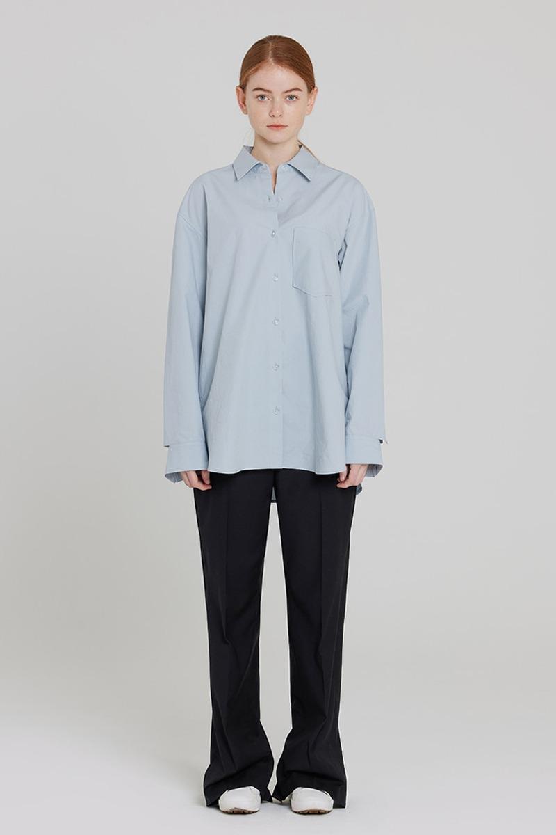 [LZSD]Back Slit slacks (dark grey)