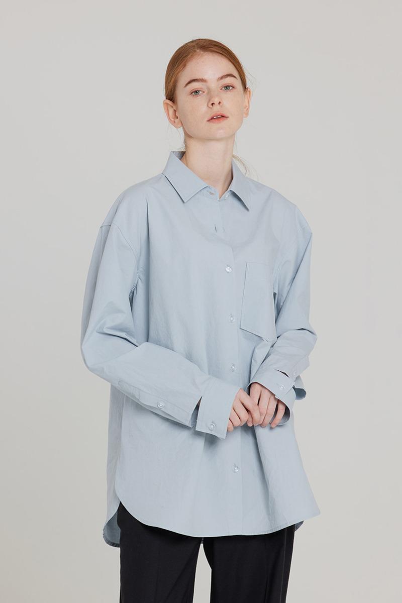 [LZSD]Overfit Twill shirt (light blue)