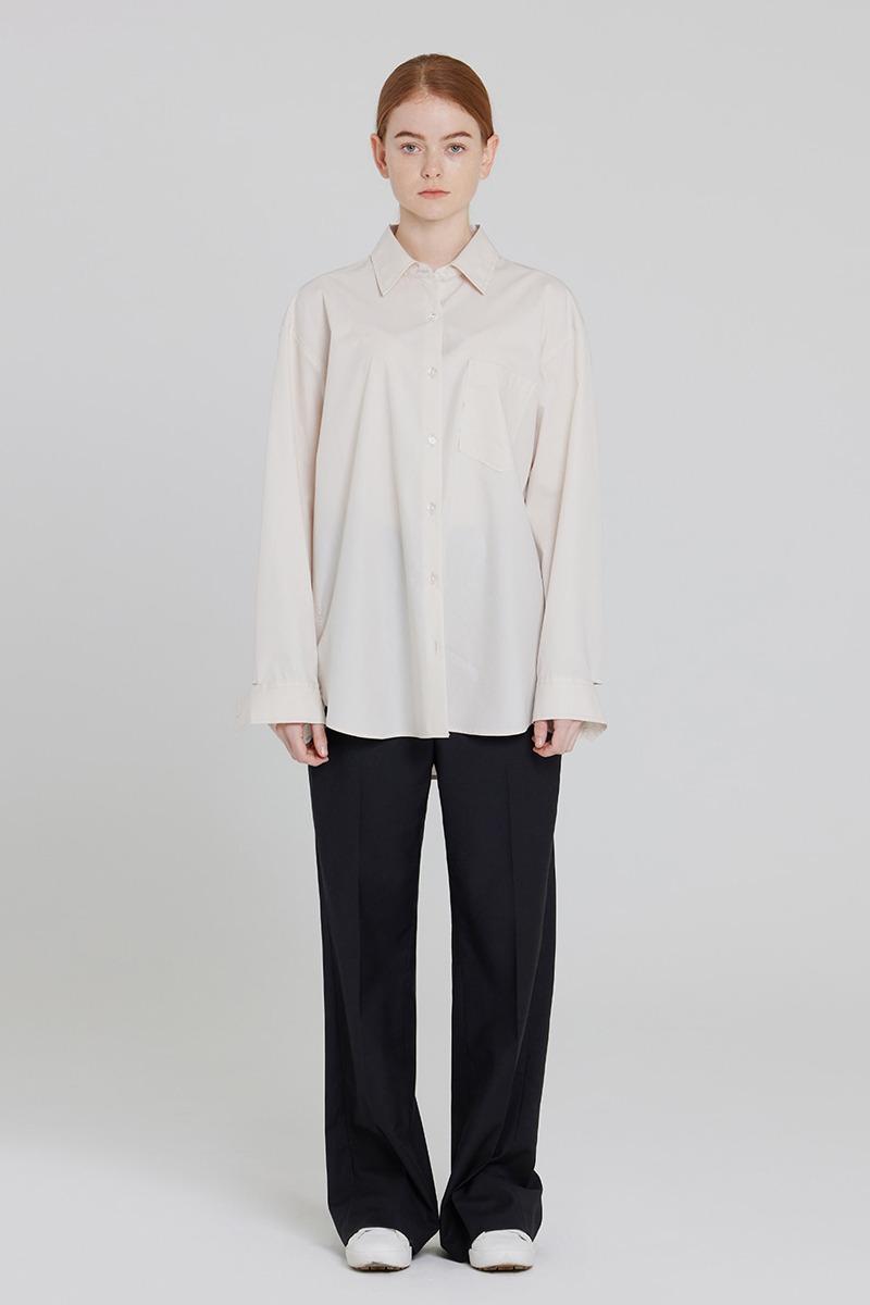 [LZSD]Overfit Twill shirt (ivory)