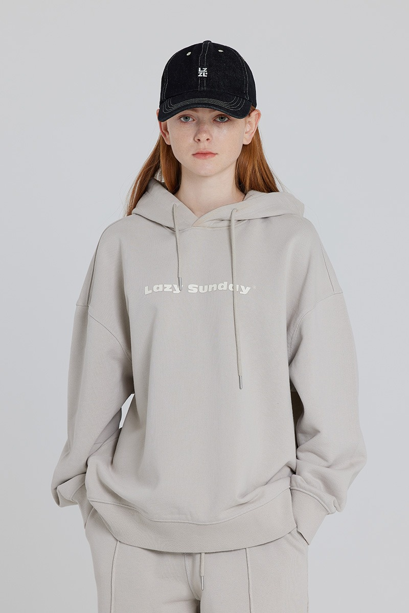[LZSD]Oversize set-up hoodie (light grey)