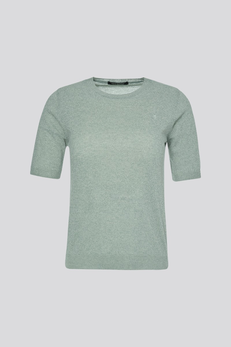 [LZSD] Round-necked short-sleeved knitwear (mint)